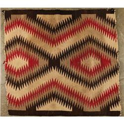 Wool Saddle Blanket with Eye Dazzler Design