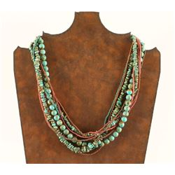 9 Strand beaded necklace