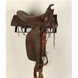 Rustic Western Tooled Saddle