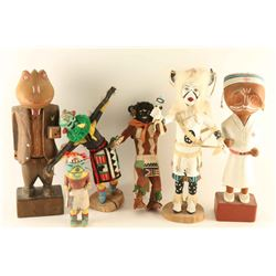 Lot of 4 Kachinas & 2 Wood Figures