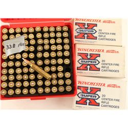 Lot of 338 Winchester Ammo