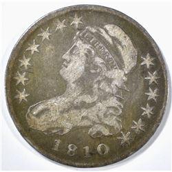 1810 BUST HALF DOLLAR VF