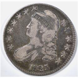 1825 BUST HALF DOLLAR VF+