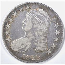 1822 BUST HALF DOLLAR VF/XF