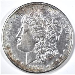 1878-S MORGAN DOLLAR, AU/BU