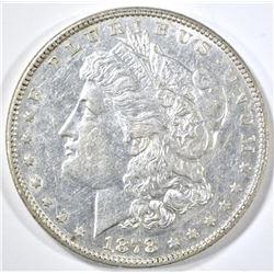 1878 7/8TF MORGAN DOLLAR, AU/BU