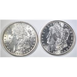 1881-S & 1885 CH BU MORGAN DOLLARS