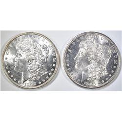 1880-S & 1887 CH BU MORGAN DOLLARS