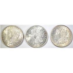 3-CH BU 1921 MORGAN DOLLARS