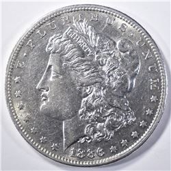 1886-S MORGAN DOLLAR  AU/BU   FLASHY