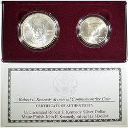 1998 KENNEDY 2-COIN COLLECTORS SET