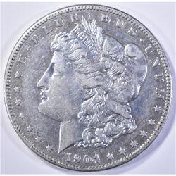 1904-S MORGAN DOLLAR  AU
