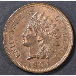 1904 INDIAN HEAD CENT  CH BU RB