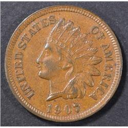 1907 INDIAN HEAD CENT  CH AU
