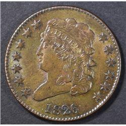 1826 HALF CENT  UNC