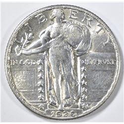 1930-P STANDING LIBERTY QUARTER  AU