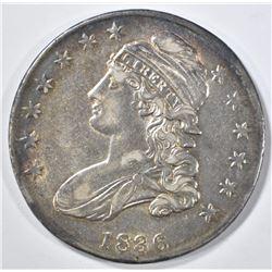 1836 BUST HALF DOLLAR  AU  LETTERED EDGE