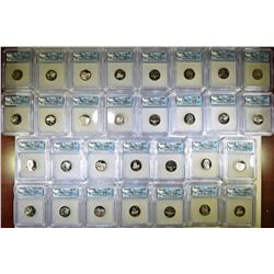 (5) 6-COIN PROOF JEFFERSON NICKEL SETS