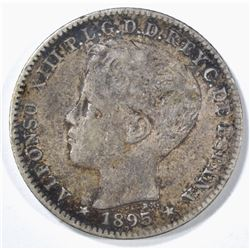 1895 PUERTO RICO 20 CENTAVO