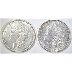 1890 & 1897 MORGAN DOLLARS, AU/BU
