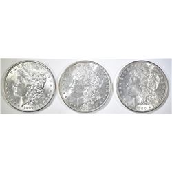 1889, 98 & 1900 BU MORGAN DOLLARS