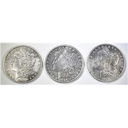 3-CIRC MORGAN DOLLARS: