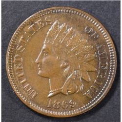1869 INDIAN HEAD CENT  CH UNC