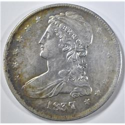 1837 REEDED EDGE BUST HALF DOLLAR  NICE UNC
