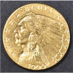 1909 $2.5  GOLD INDIAN HEAD  CH BU