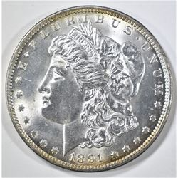 1891-CC MORGAN DOLLAR  GEM BU