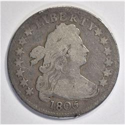 1805 DRAPED BUST DIME FINE  HERALDIC EAGLE REVERSE