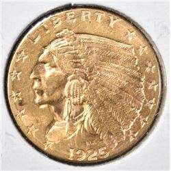 1925-D GOLD $2.50 INDIAN HEAD  CH BU
