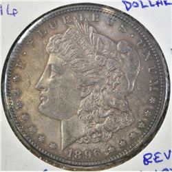 1896 MORGAN DOLLAR  CHOICE UNC  REV. COLOR