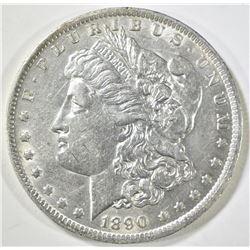 1890-O MORGAN DOLLAR AU