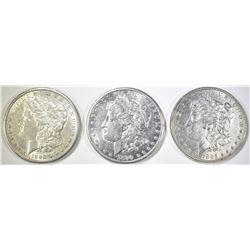 2 1890-S, & 85 MORGAN DOLLARS AU/BU