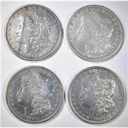 4 MORGAN DOLLARS XF OR BETTER