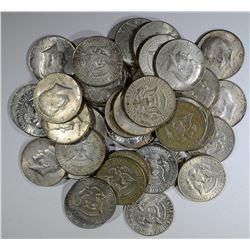 $20 FACE KENNEDY HALF DOLLARS 40% Silver