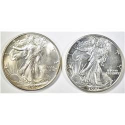 1941-D & 47 WALKING LIBERTY HALF DOLLARS CH BU