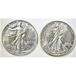 1941-D & 46 WALKING LIBERTY HALF DOLLARS CH BU