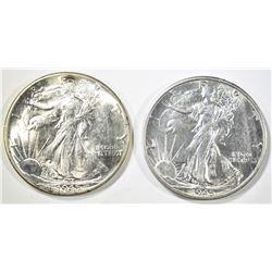1945-P,S WALKING LIBERTY HALF DOLLARS CH BU