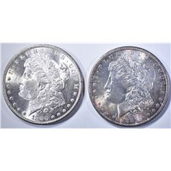 1880-S CH BU & 1881-S GEM BU MORGAN DOLLARS