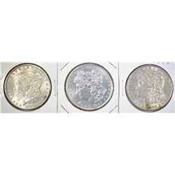 1888, 89, 90 MORGAN DOLLARS BU