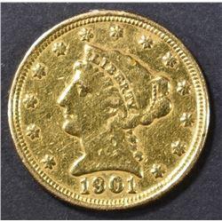 1901 $2.5 GOLD LIBERTY EX JEWELERY