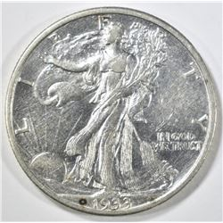 1933-S WALKING LIBERTY HALF DOLLAR AU
