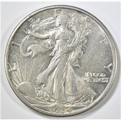 1934-D WALKING LIBERTY HALF DOLLAR AU