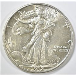 1938 WALKING LIBERTY HALF DOLLAR BU