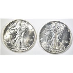 1939-P,D WALKING LIBERTY HALF DOLLARS CH BU