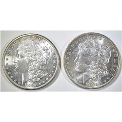 1881-S & 82-O CH BU MORGAN DOLLARS