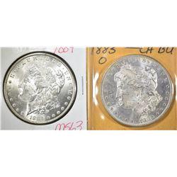 1883-O & 84 CH BU MORGAN DOLLARS