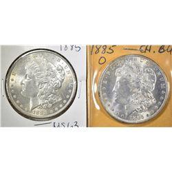 1885 & 85-O CH BU MORGAN DOLLARS